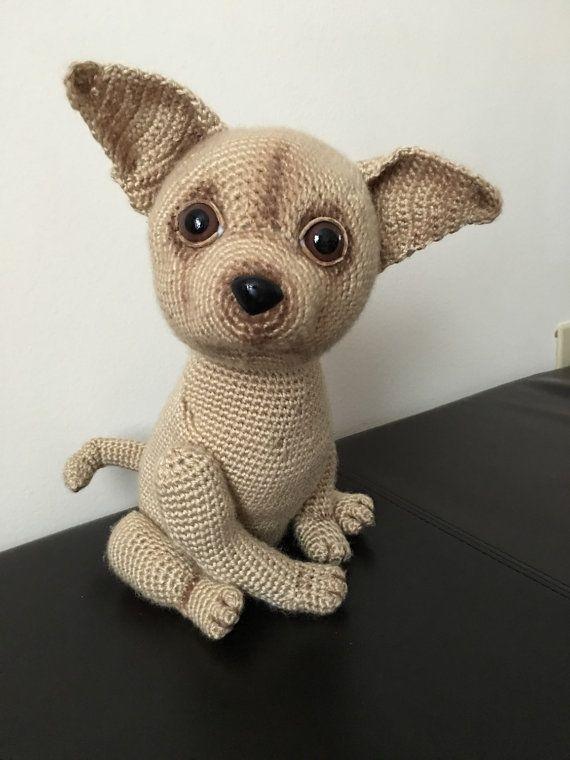 Chihuahua dog crochet pattern, Chihuahua dog, Chihuahua crochet, amigurumi dog, amigurumi chuhuahua, crochet pattern, amigurumi pattern