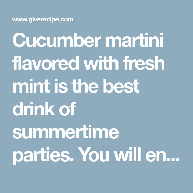 Martini Flavors, Fun Drinks