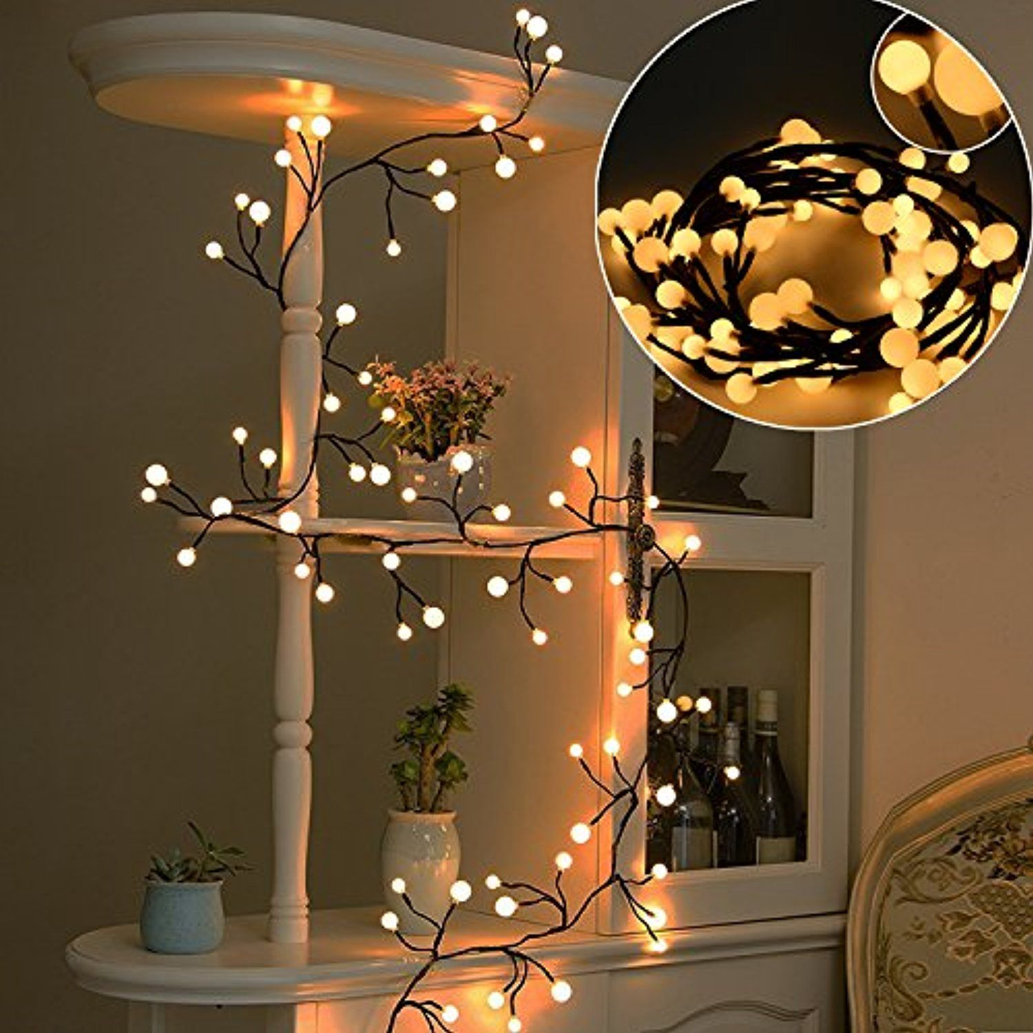 How To Hang String Lights Indoors Captivating Solled Globe String Light Decorative Wall Hanging String Lights Design Ideas