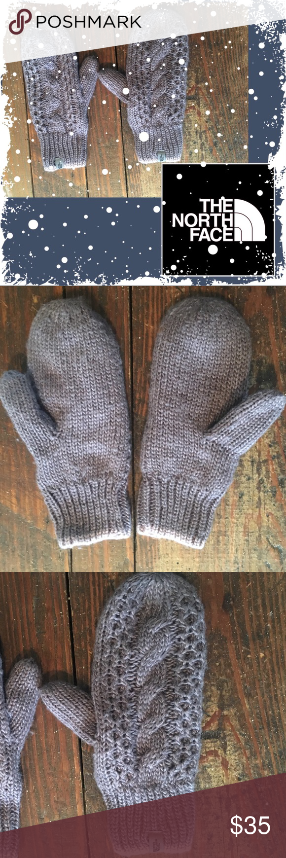 9c9922c66 The North Face Minna Cable Knit Mittens Beautiful Cable Knit Lined ...
