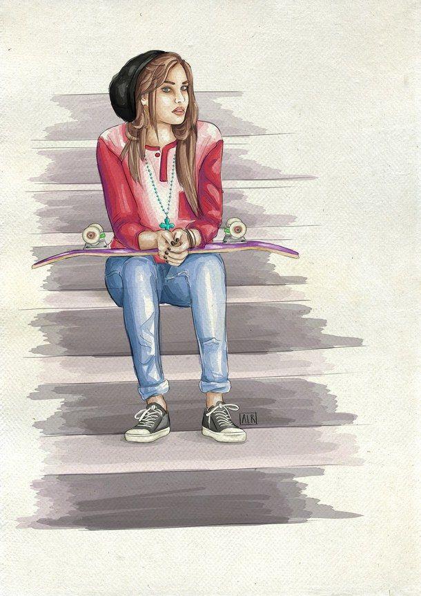 Девочка подросток картинки нарисованные