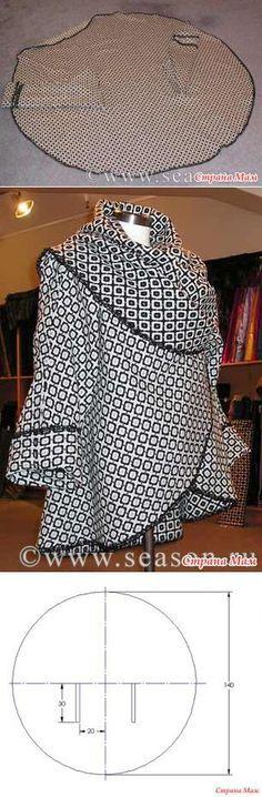 Good shape for a circular srochet wrap worked in a spiral! Накидка-пальто. - Быстрое шитье и шитье для неидеальных - Страна Мам
