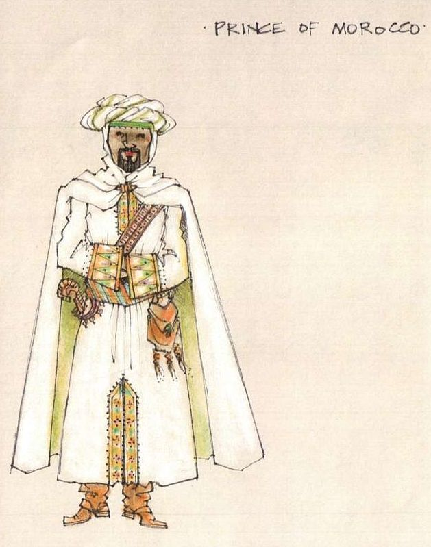 What is a character sketch of the Prince of Morocco in The Merchant Of Venice?