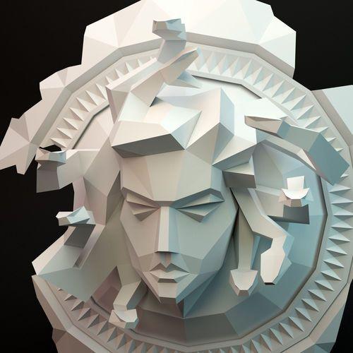 Meduse Gorgona 3d Model Paper Artwork 3d Printing Diy 3d Paper
