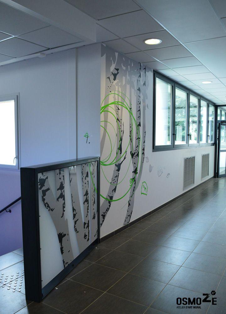 Atelier dart mural osmoze créateur et fabricant de décoration murale design mural et de signalétique contemporaine artistique et architecturale