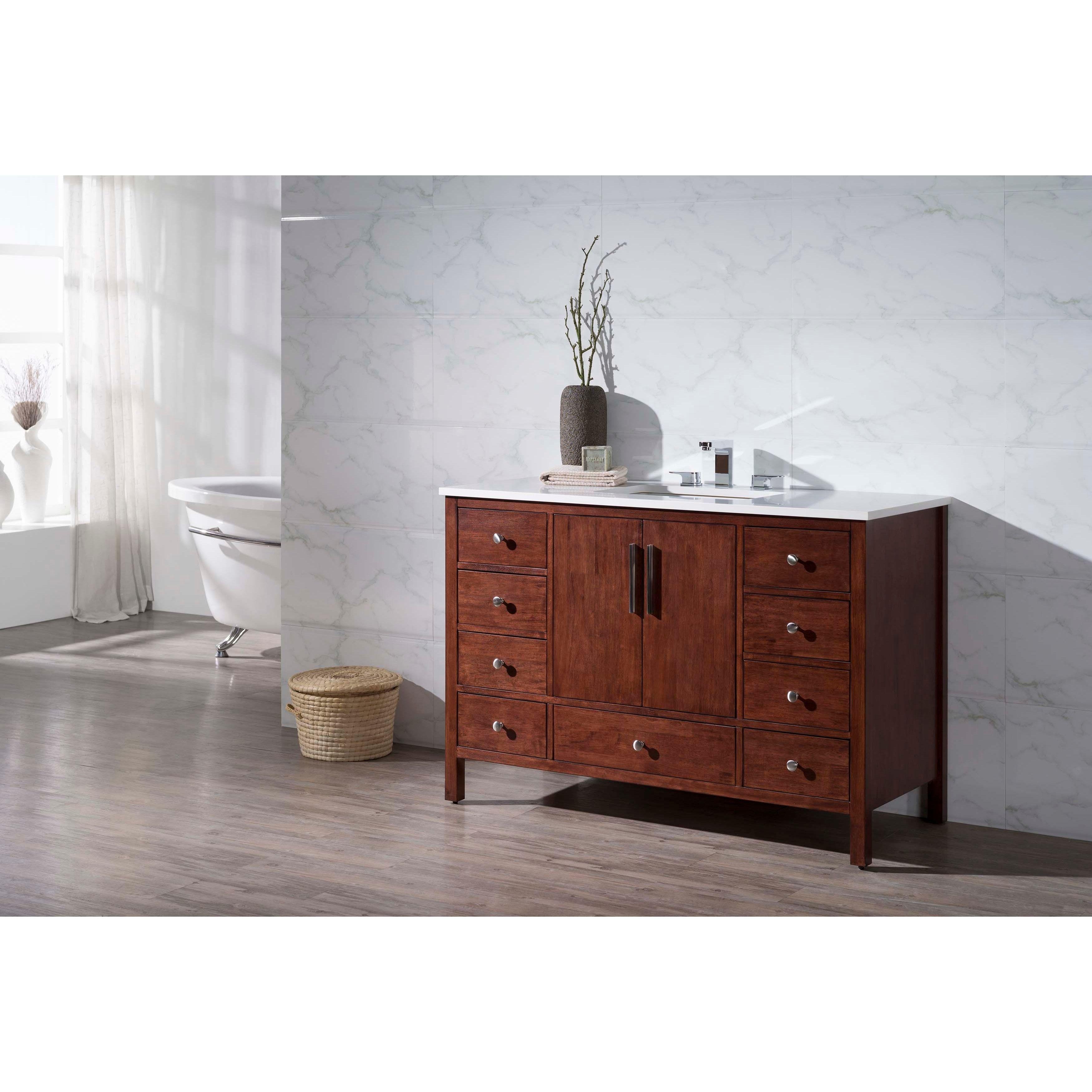 Image Of Stufurhome Rockford Inch Single Sink Bathroom Vanity