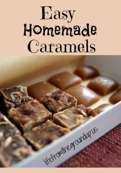 Basic Homemade Caramels (corn syrup free)