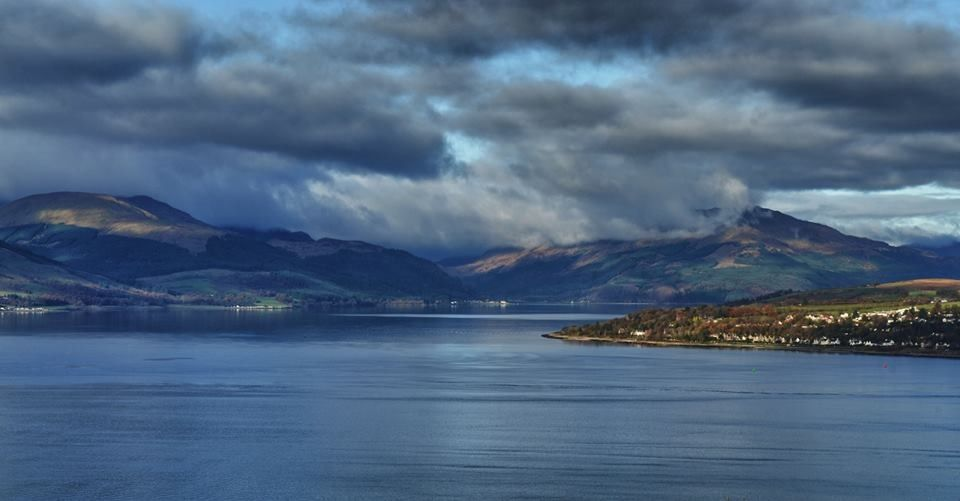 View from Tower Hill, Gourock across to Loch Long