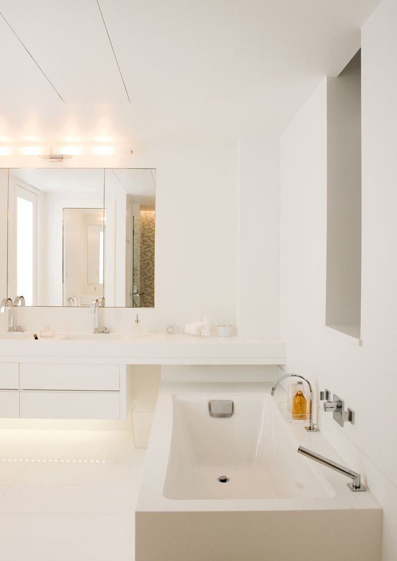 Inspiring Design Office Restroom Interior In White Nuance ...