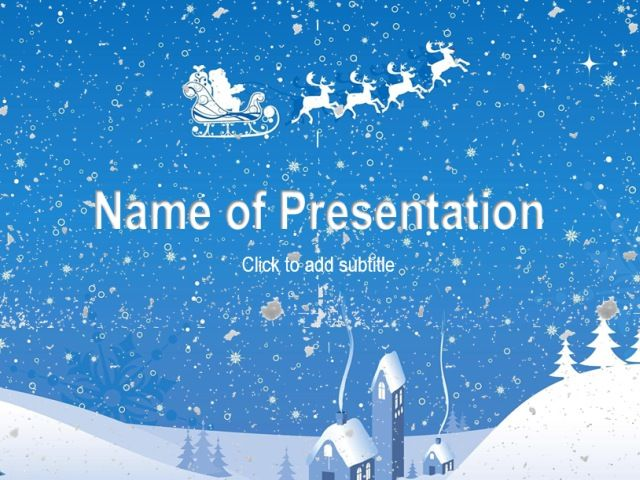 Animated new year template Powerpoint Templates Pinterest Template - winter powerpoint template
