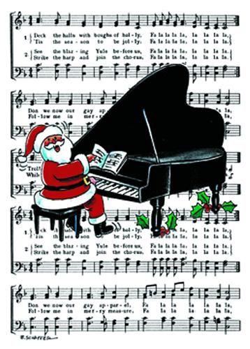 Buy piano santa christmas card music stationery greeting cards buy piano santa christmas card music stationery greeting cards christmas cards m4hsunfo
