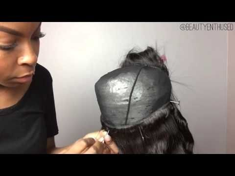 How To Make A Upart Wig With Lace Closure With Beauty Forever Hair Youtube Diy Wig Wig With Closure Hair Projects