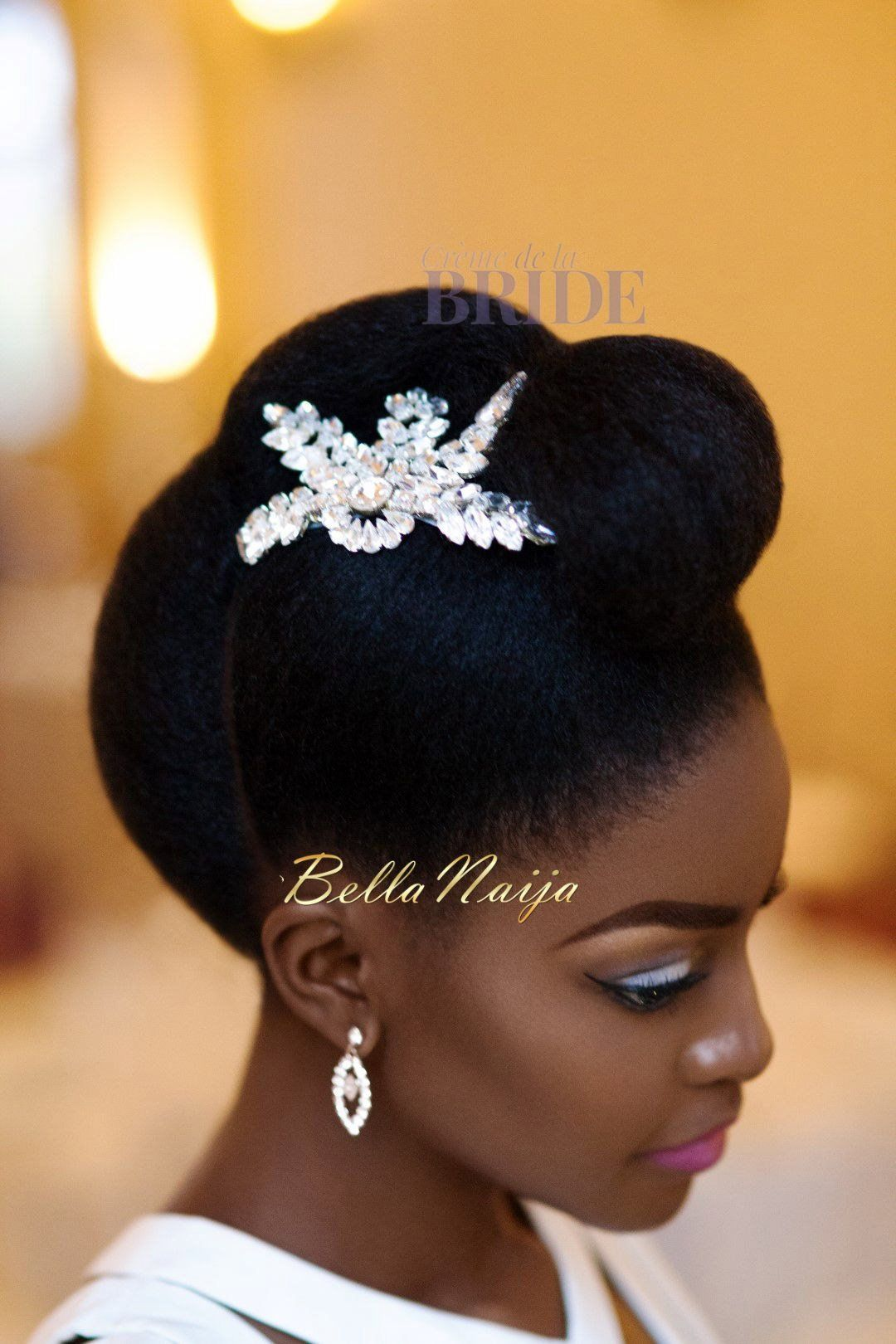dionne smith natural hair bride inspiration - bellanaija