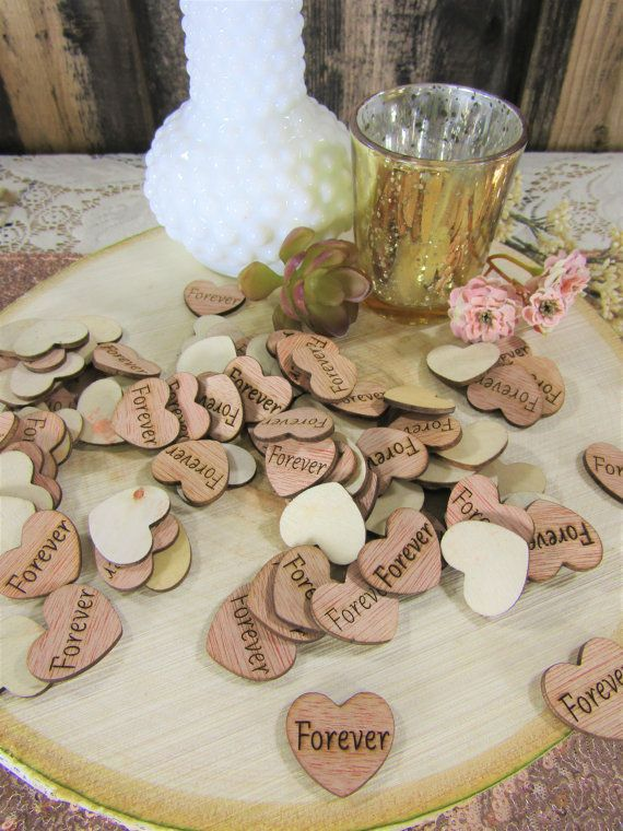 Heart Table Confetti Rustic Sunflowers