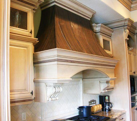 Wood Copper Range Hood Kitchen Range Hood Kitchen Vent Hood