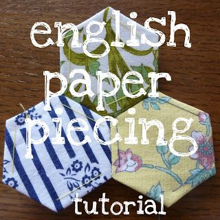 selfsewn: basic english paper piecing tutorial
