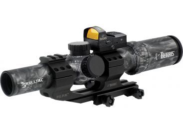Burris Skull-TAC 1x-4x-24mm Illuminated Riflescope w/ Ballistic CQ 5.56 Reticle 200438-FF http://riflescopescenter.com