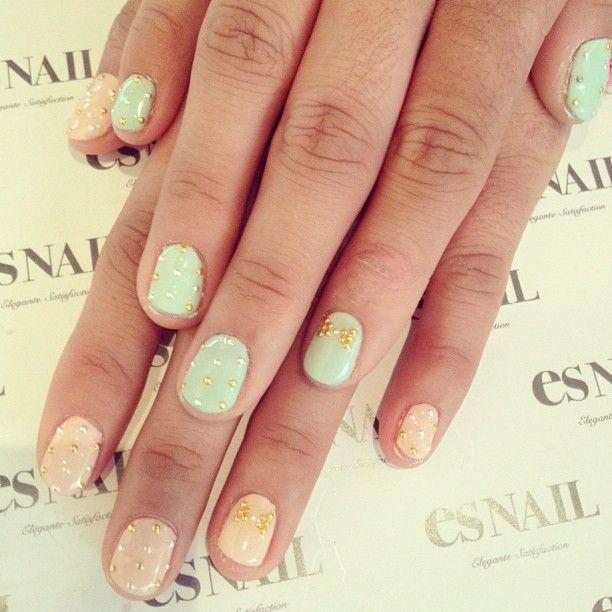 menta,beige y dorado :D | Nail | Pinterest | Beige y Menta
