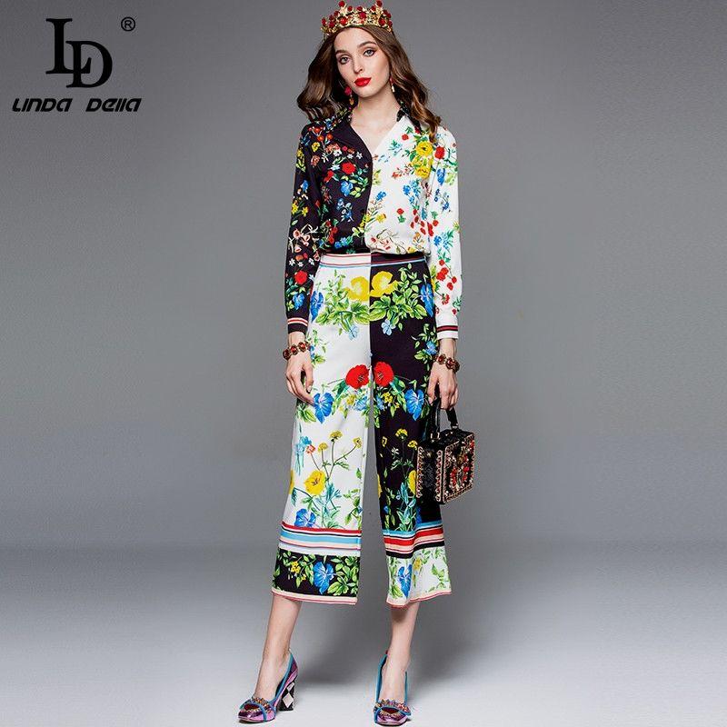 75ff0bcbc1 Fashion Designer 2 Pants Two Piece Set Women's Elegant Vintage ...