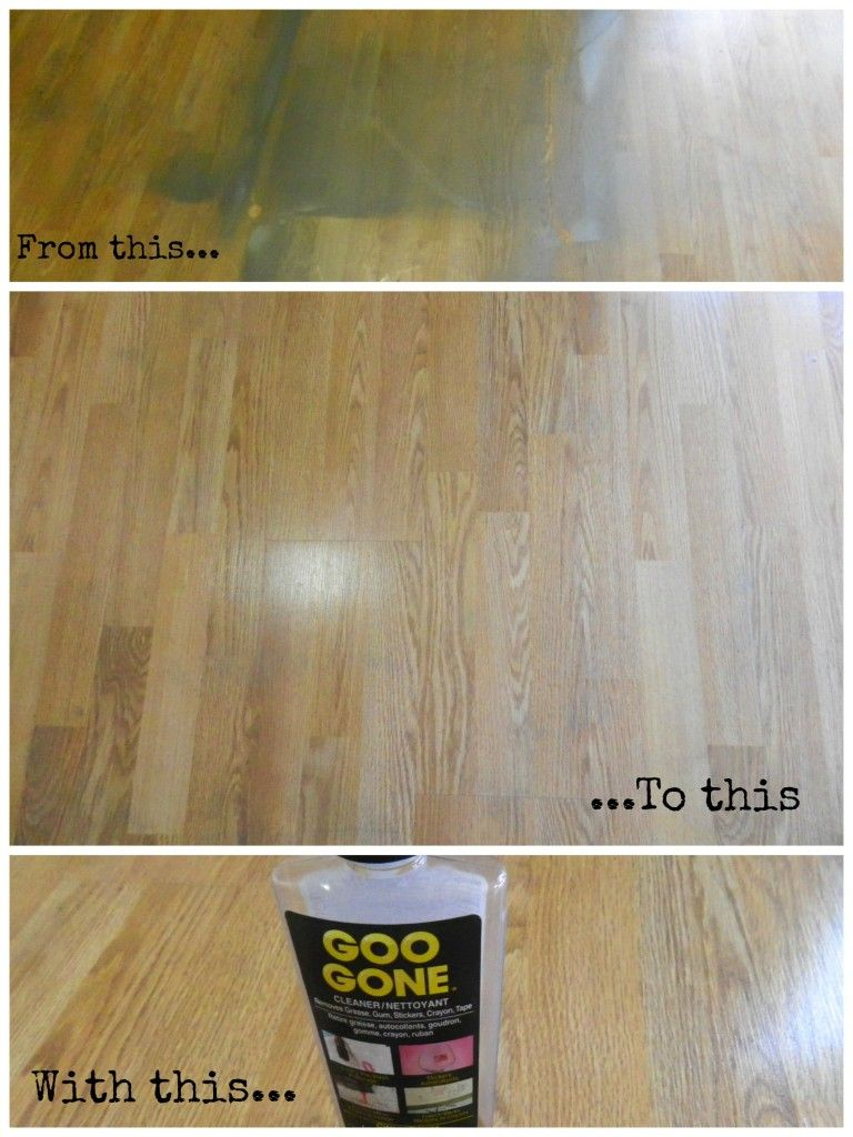 Remove Spray Paint From Wood Floors With Goo Gone The
