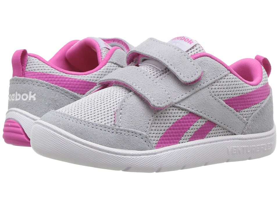Reebok Kids Ventureflex Chase II (Toddler) Girls Shoes Cloud Grey Charged  Pink White 5bbe97819