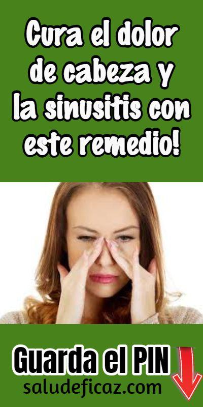remedios para la sinusitis y dolor de cabeza
