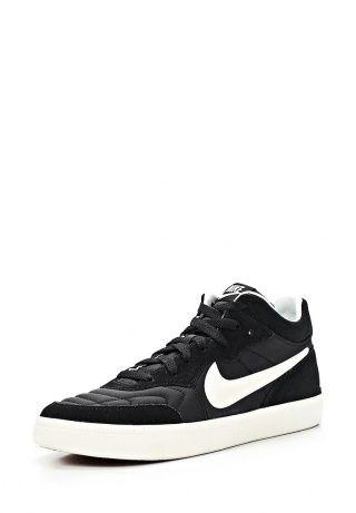 Черные кеды Nike выполнены из плотного текстиля со вставками из спилка, текстильная подкладка и стелька. Детали: удобная шнуровка, утолщенная резиновая подошва. http://j.mp/1nlvX2C