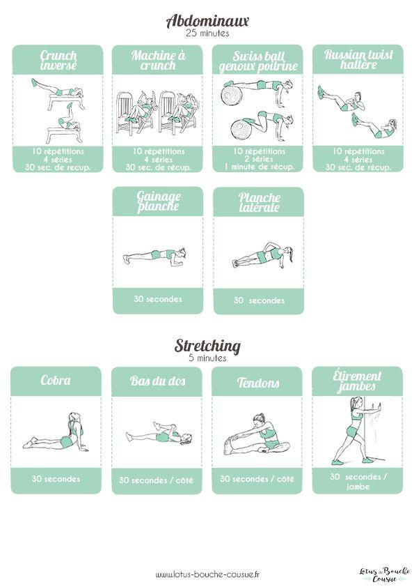 Super Programme bas du corps en salle de sport : une fiche gratuite à  GS84