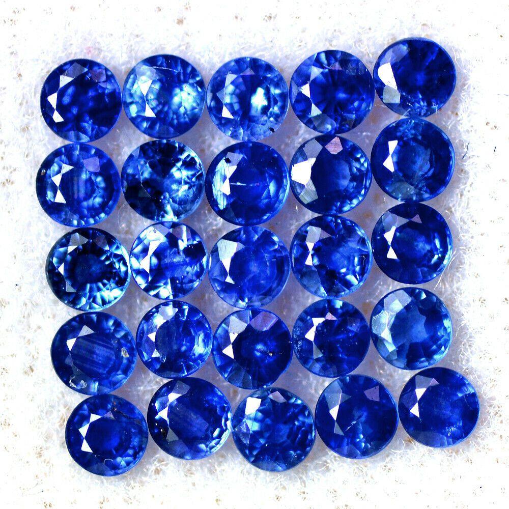 Natural Blue Sapphire Round Cut 2.5mm Gem Gemstone