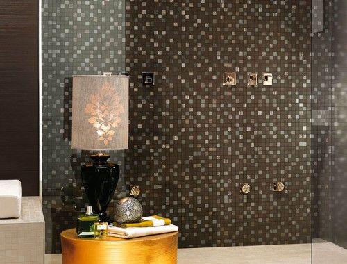 Bagno Design ~ Brillant chocolat mosaic foto #rivestimenti #pastabianca
