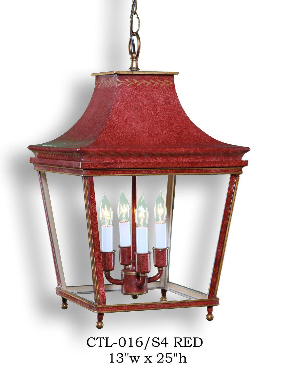 Other metal lantern and pendant ctl z016 s4 redpendant grahams lighting memphis tn pagoda tole chinoiserie
