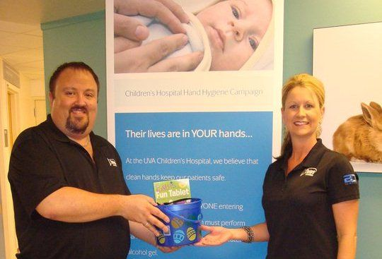 nTelos Cares - gift baskets for patients at the UVA Children's Hospital