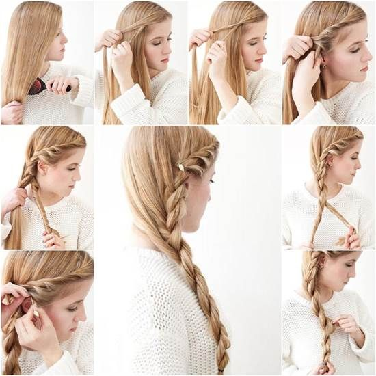 How To Diy Simple Side Braid Hairstyle Creative Ideas Pinterest