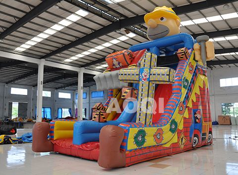 Inflatable Construction Site Slide, Water Slide Inflatable, Backyard  Inflatable Water Slides