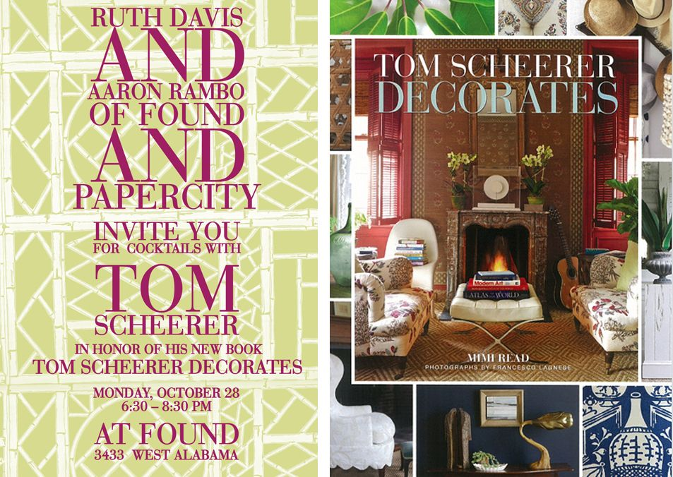 Tom Scheerer book signing at @Found Houston on Monday, Oct. 28