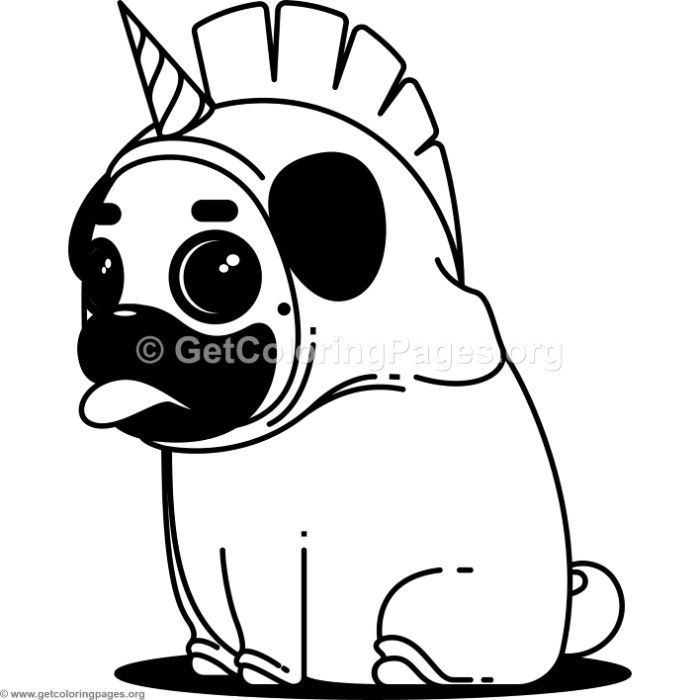 Free Instant Download Pug Unicorn