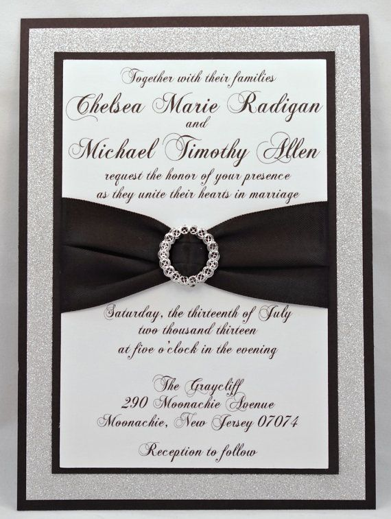 Stunning Black Silver Glitter Wedding