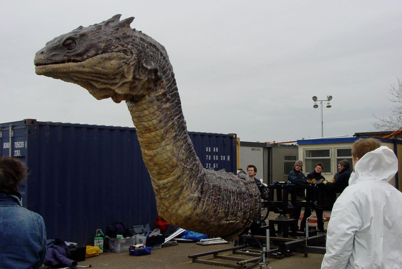 Basilisk animatronic used in movie. They should have put a chamber ...