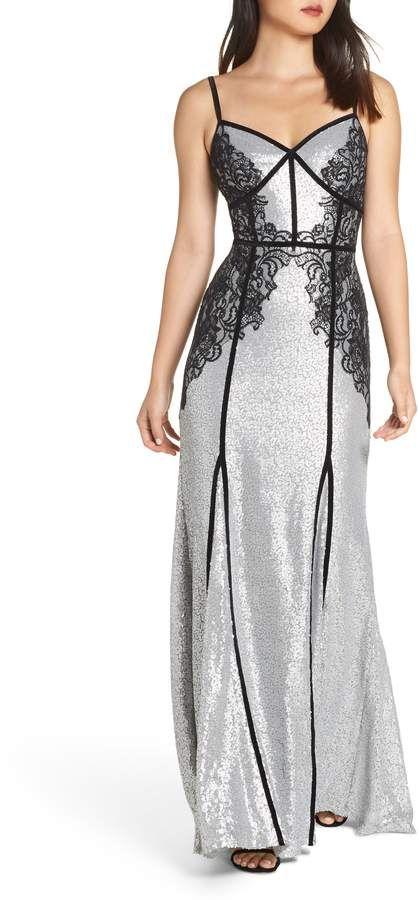 058cc14d Tadashi Shoji Sleeveless Sequin & Lace Gown. #ad #dresses #shopstyle ...