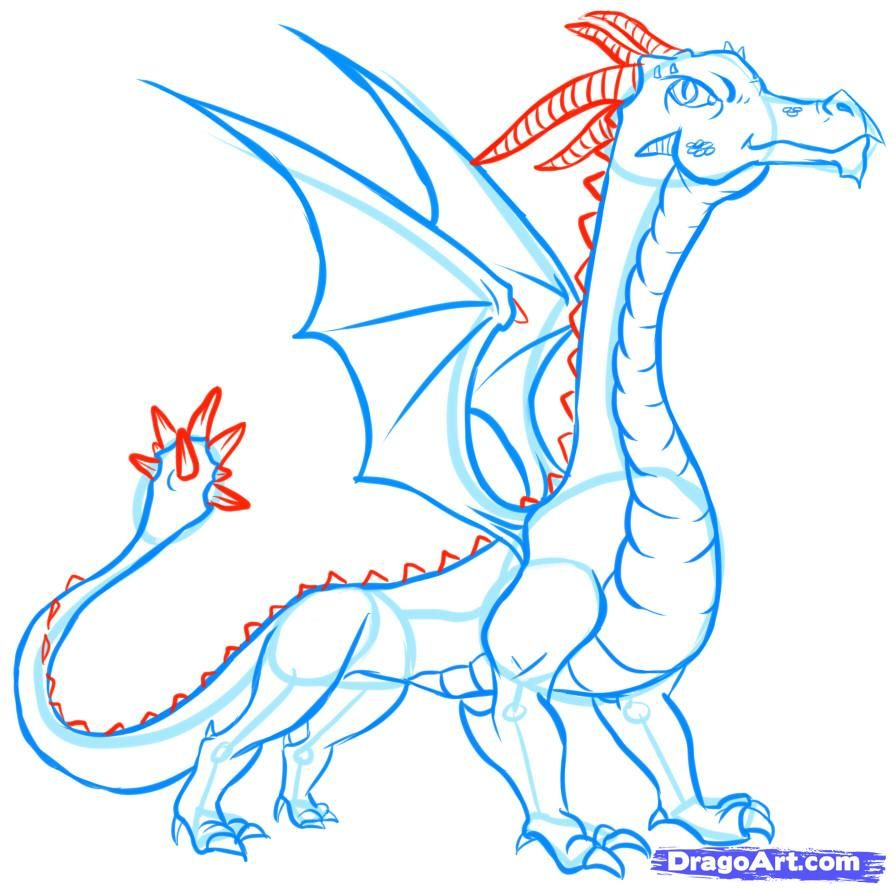 Uncategorized Draw A Dragon Easy how to draw easy dragons step 16 pinterest 16