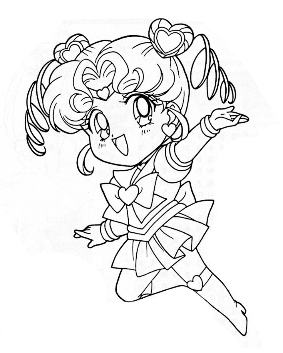 Sailor Chibi Chibi Coloring Page Sailor Moon Coloring Pages