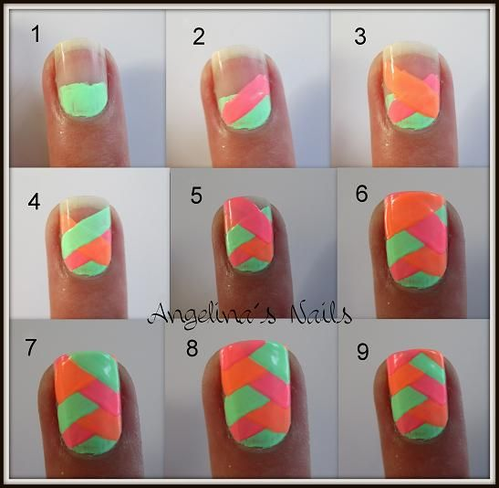 angelinas nails more tutorial fischgrten muster - Nails Muster