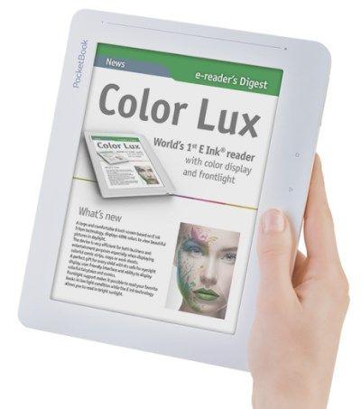 Pockebook Color Lux, e-kirjojen lukulaite värinäytöllä