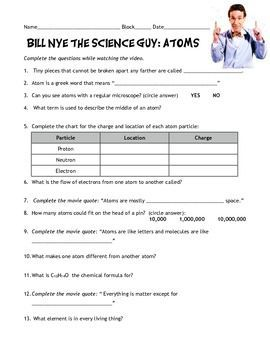 bill nye atom worksheet - Yahoo Image Search Results | Science ...
