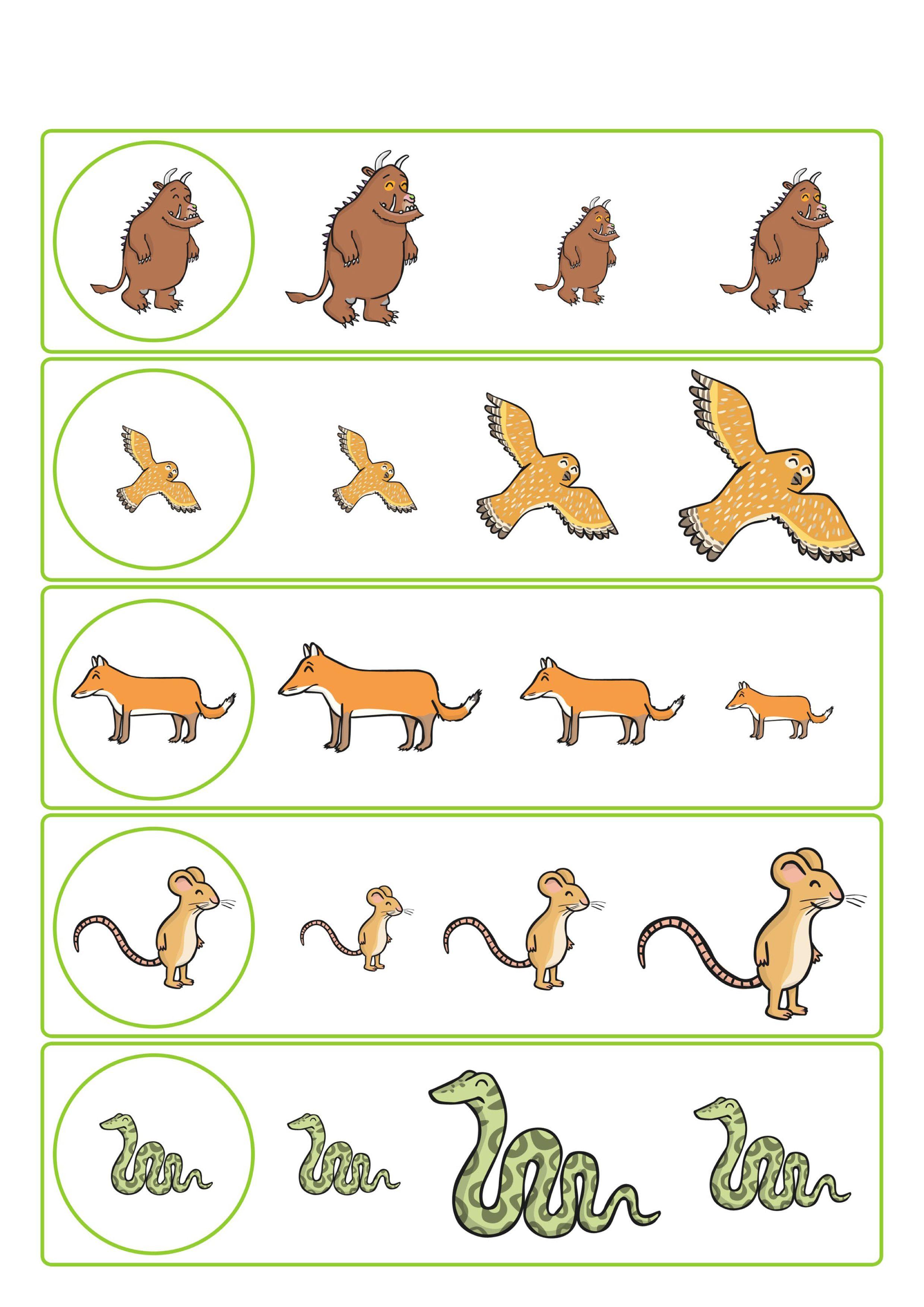Werkblad Visueel De Gruffalo Preschool