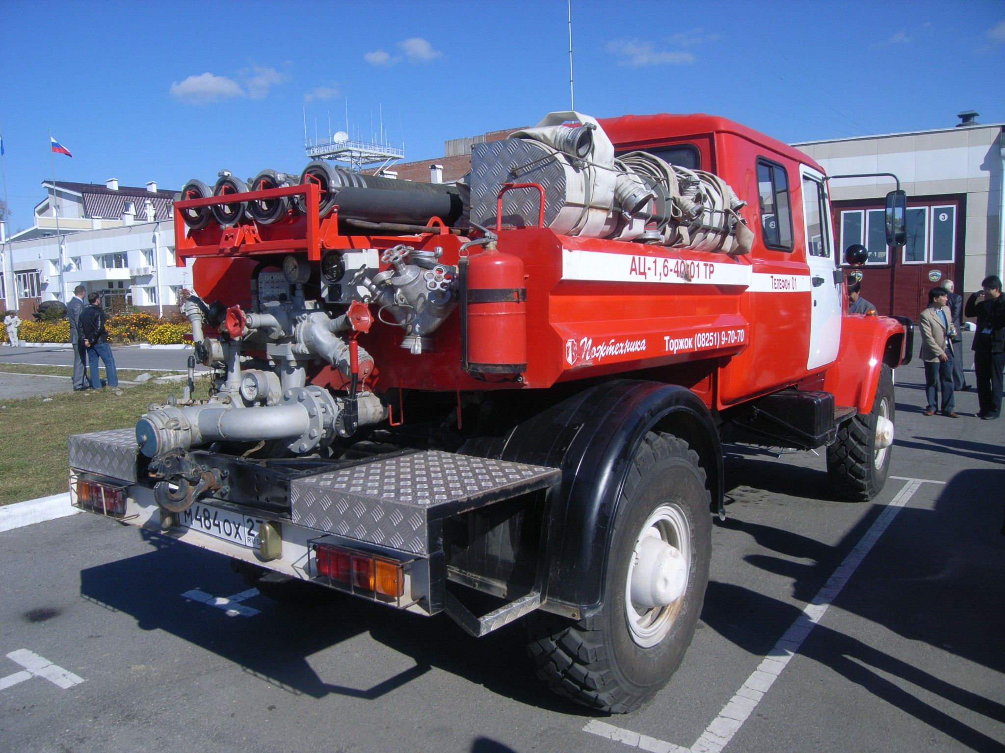 Special forest fire engine operated by the Khabarovsk Emergency Department EMERCOM