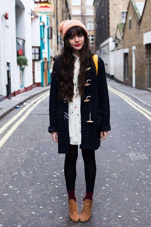 Blue Duffle Coat 2017 Street Style | Fashion Trends 2017 ...