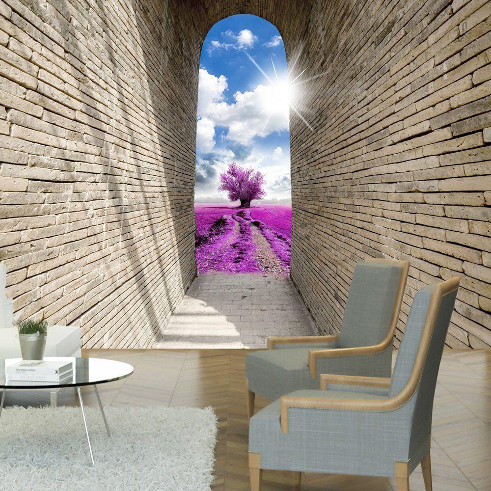 Epingle Par Wallis Bridg Sur Deco Interieure En 3d Ou Trompe L Oeil Papier Peint Papier Peint Paysage Fresque Murale