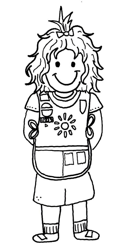 Daisy Girl Scout Coloring Pages | ScrapHappy Paper Crafter: Free ...