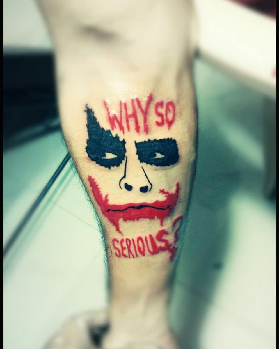 Why So Serious ?? tattoo colortattoo jokertattoo
